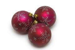 Bolas de la Navidad en blanco Imagenes de archivo