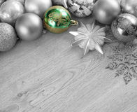 Bolas de la Navidad en el árbol de navidad Fotografía de archivo