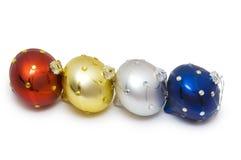 Bolas de la Navidad en el fondo blanco Foto de archivo