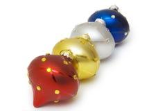 Bolas de la Navidad en el fondo blanco Imágenes de archivo libres de regalías