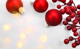 Bolas de la Navidad en fondo abstracto Imagen de archivo