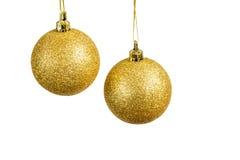 Bolas de la Navidad en un fondo blanco Fotografía de archivo