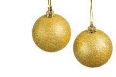 Bolas de la Navidad en un fondo ligero Imagen de archivo libre de regalías