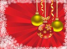 Bolas de la Navidad en un fondo rojo libre illustration