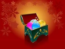 Bolas de la Navidad en un rectángulo elegante Fotos de archivo