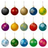 Bolas de la Navidad fijadas