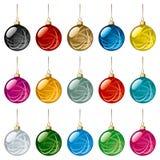 Bolas de la Navidad fijadas Foto de archivo libre de regalías