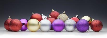bolas de la Navidad fijadas Fotografía de archivo