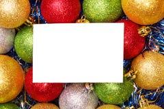 Bolas de la Navidad Fondo brillante del color fotografía de archivo libre de regalías