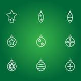 Bolas de la Navidad Iconos del vector Foto de archivo