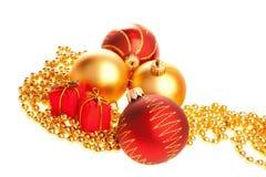 Bolas de la Navidad, presentes en granos Imagen de archivo libre de regalías