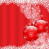Bolas de la Navidad rojas Fotos de archivo libres de regalías