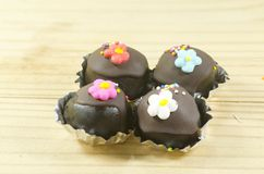 Bolas de la torta de chocolate Foto de archivo libre de regalías