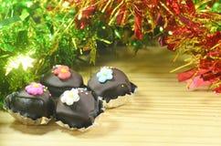 Bolas de la torta de chocolate Fotografía de archivo libre de regalías