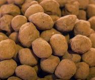 Bolas de la trufa de chocolate Imagenes de archivo