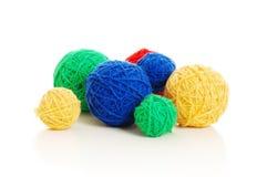 Bolas de lanas Imágenes de archivo libres de regalías