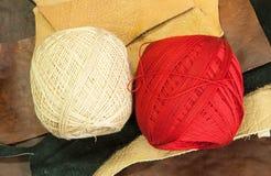 Bolas de lanas Imagen de archivo libre de regalías