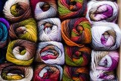 Bolas de lanas Fotos de archivo libres de regalías