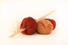 Bolas de las lanas Imagenes de archivo