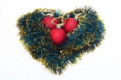 Bolas de los christmass de los rojos Imagen de archivo libre de regalías