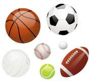 Bolas de los deportes Fotografía de archivo libre de regalías