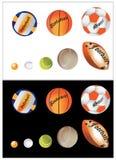 Bolas de los deportes ilustración del vector