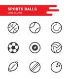 Bolas de los deportes fijadas Stock de ilustración