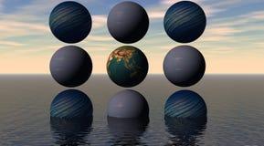 Bolas de los planetas ilustración del vector