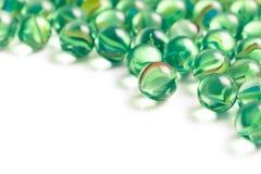 Bolas de mármol de cristal Imagen de archivo libre de regalías