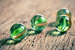 Bolas de mármore de vidro Fotografia de Stock Royalty Free
