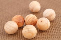 Bolas de madeira Imagem de Stock Royalty Free