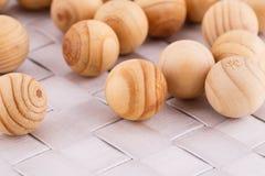 Bolas de madeira Fotografia de Stock