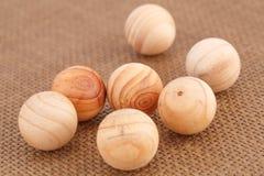 Bolas de madera Imagen de archivo libre de regalías