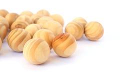 Bolas de madera Imagen de archivo