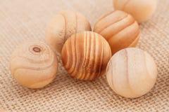 Bolas de madera Foto de archivo libre de regalías