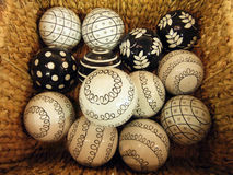 Bolas de madera Fotos de archivo
