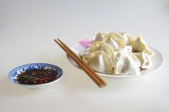 Bolas de masa hervida chinas Fotografía de archivo libre de regalías