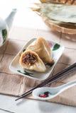 Bolas de masa hervida chinas del arroz (pollo) Fotografía de archivo libre de regalías