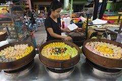 Bolas de masa hervida chinas para la venta Foto de archivo