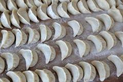 Bolas de masa hervida chinas Placa, cocinando Fotos de archivo