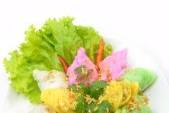 Bolas de masa hervida cocidas al vapor de la arroz-piel Fotos de archivo libres de regalías