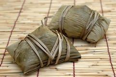 Bolas de masa hervida crudas del arroz Foto de archivo libre de regalías