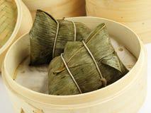 Bolas de masa hervida del arroz pegajoso Imagen de archivo libre de regalías