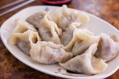 Bolas de masa hervida del chino del vegano Foto de archivo