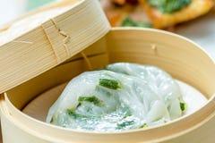 Bolas de masa hervida vegetales chinas Imagen de archivo libre de regalías