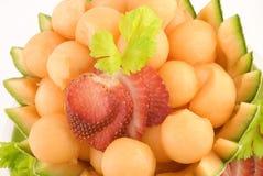 Bolas de melón del cantalupo Fotografía de archivo libre de regalías