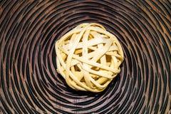 Bolas de mimbre de madera Imagen de archivo