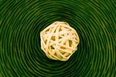 Bolas de mimbre de madera Foto de archivo