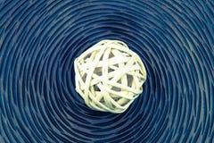 Bolas de mimbre de madera Fotos de archivo