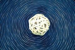 Bolas de mimbre de madera Fotografía de archivo